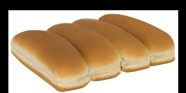 White Hot Dog Buns
