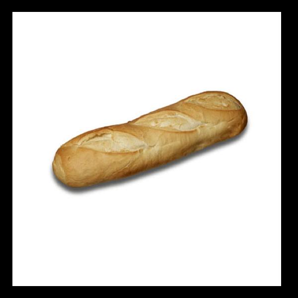 "12"" White Sandwich Roll"
